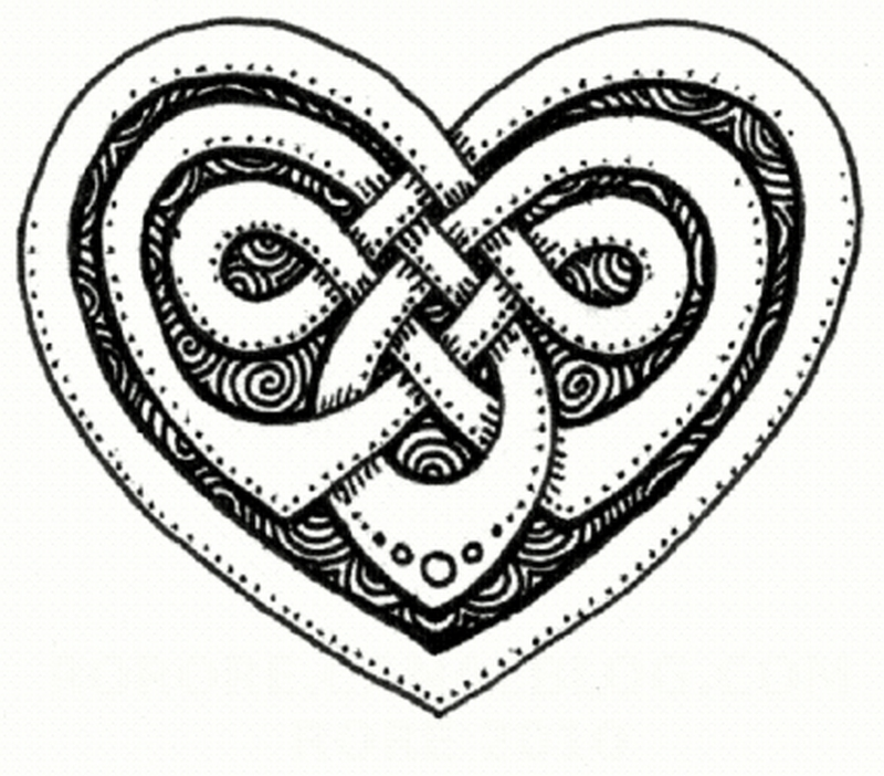 Celtic heart tattoo design
