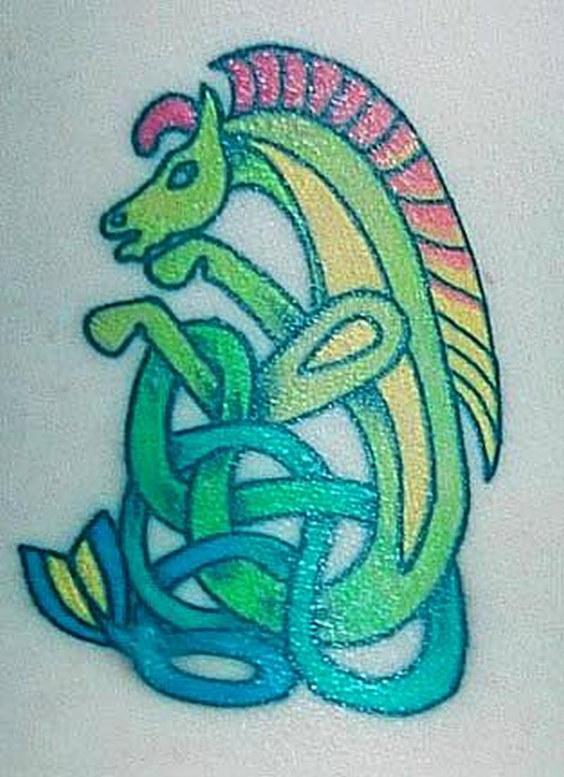 Celtic horse design 5 tattoo