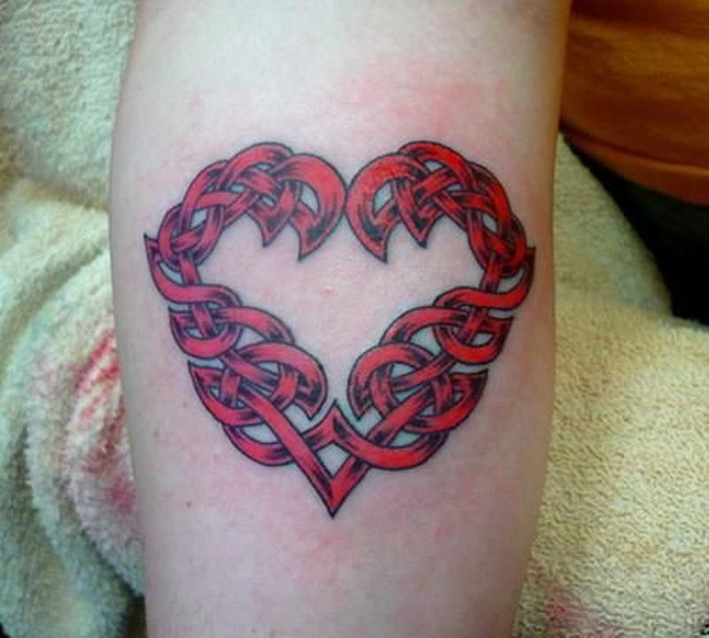 Celtic irish heart tattoo design