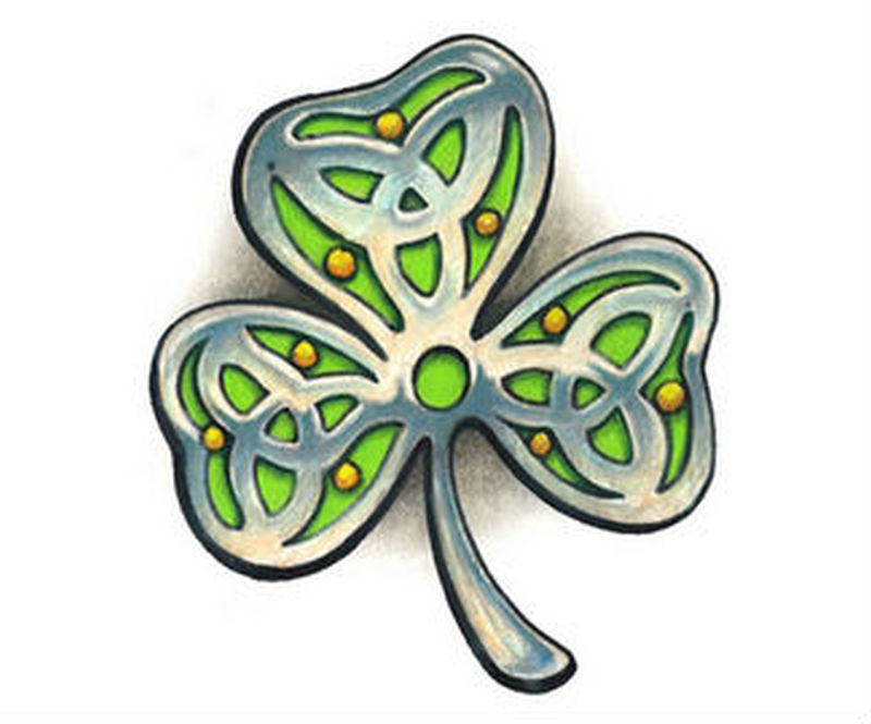 Celtic irish shamrock tattoo design - Tattoos Book - 65.000 Tattoos ...