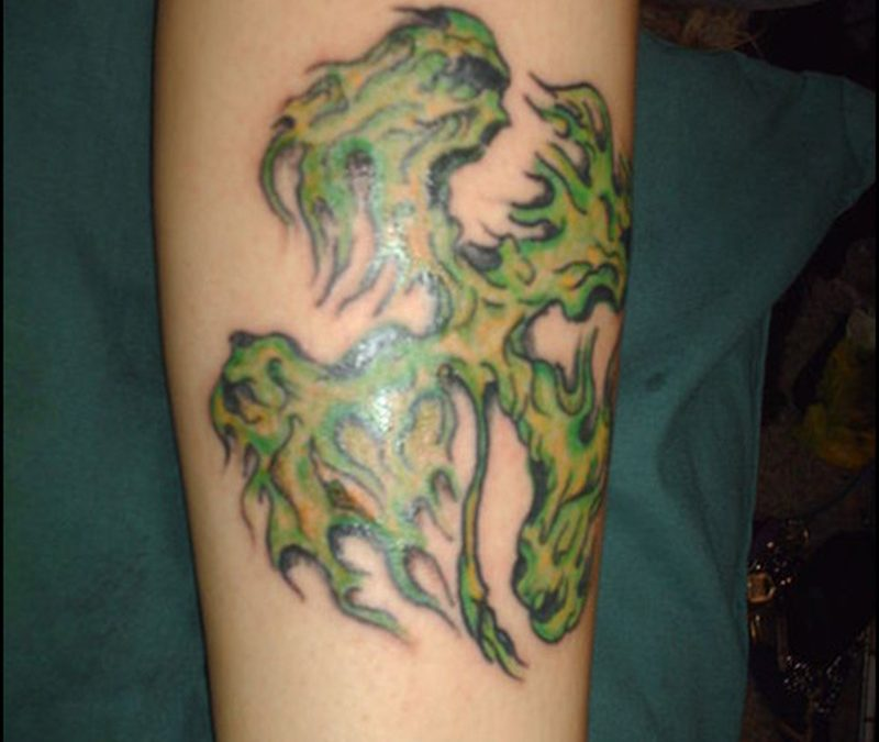 Celtic knot clover tattoo design 2