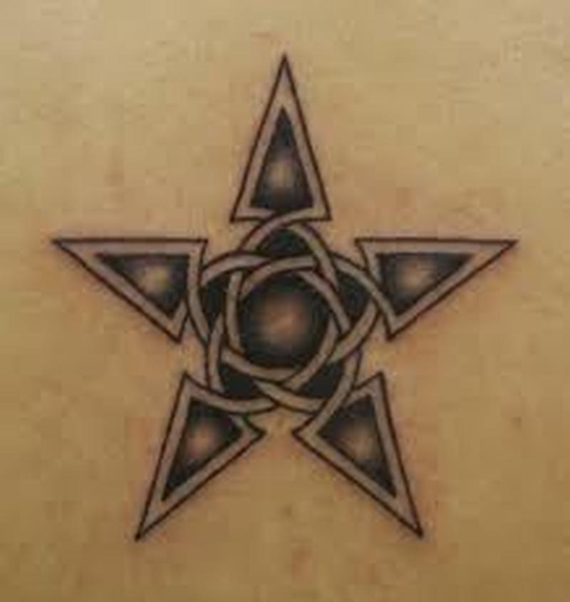 Celtic star tattoo design