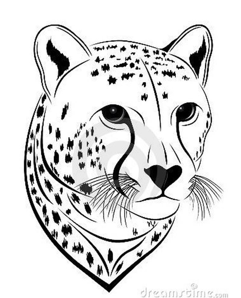 Cheetah head tattoo design