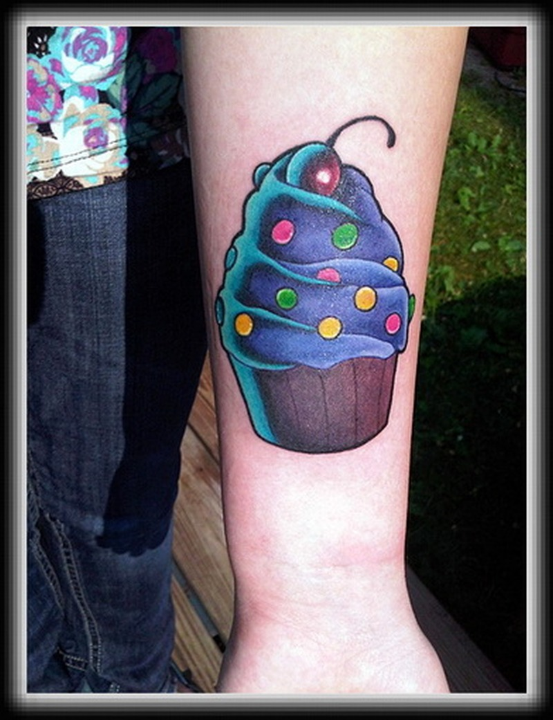 Cherry cake image tattoo
