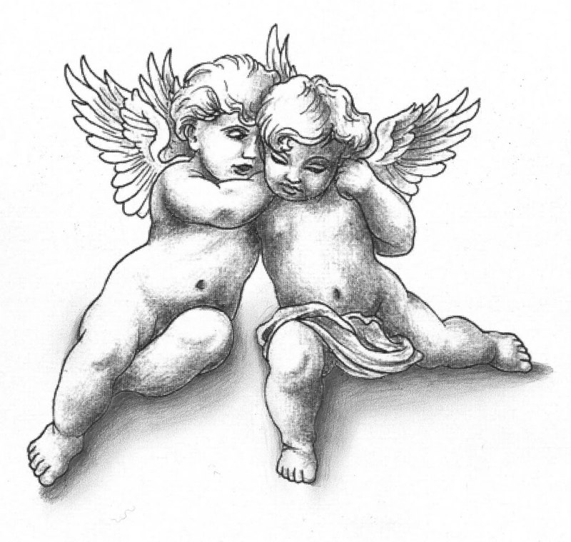 Cherub angel tattoo designs
