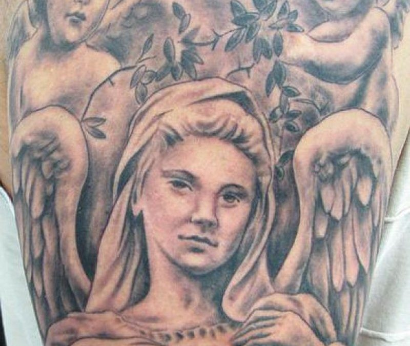 Cherub angels tattoo design