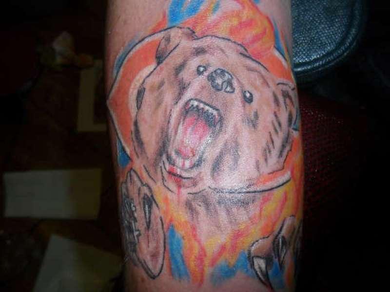 Chicago bears tribute tattoo
