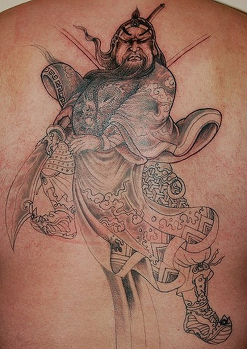 chinese tattoo of the fearless warrior guan gong tattoos book tattoos designs. Black Bedroom Furniture Sets. Home Design Ideas