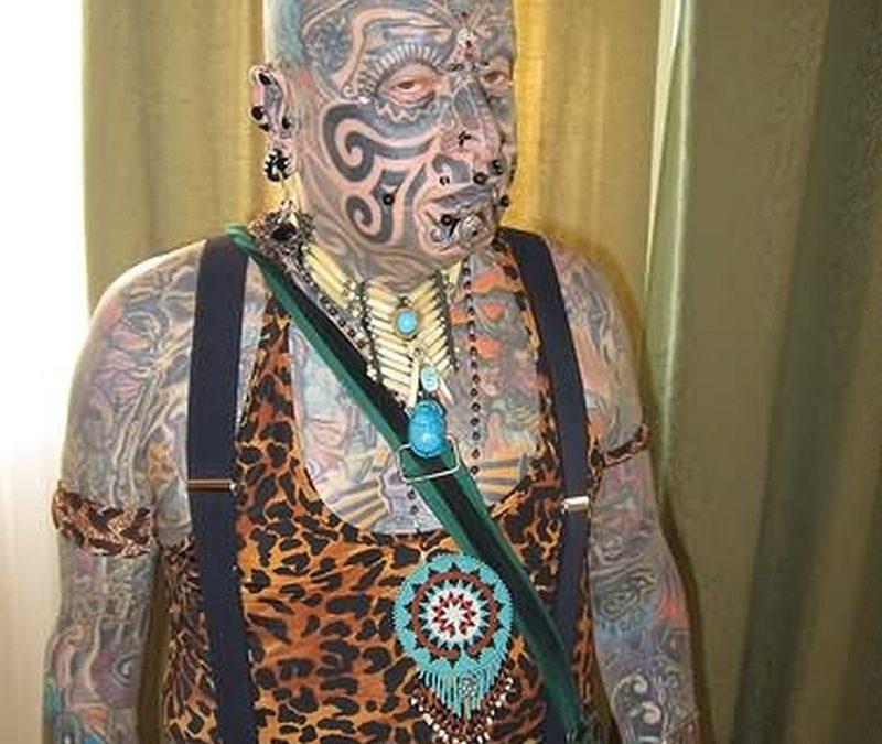 Chinese tattoo on full body