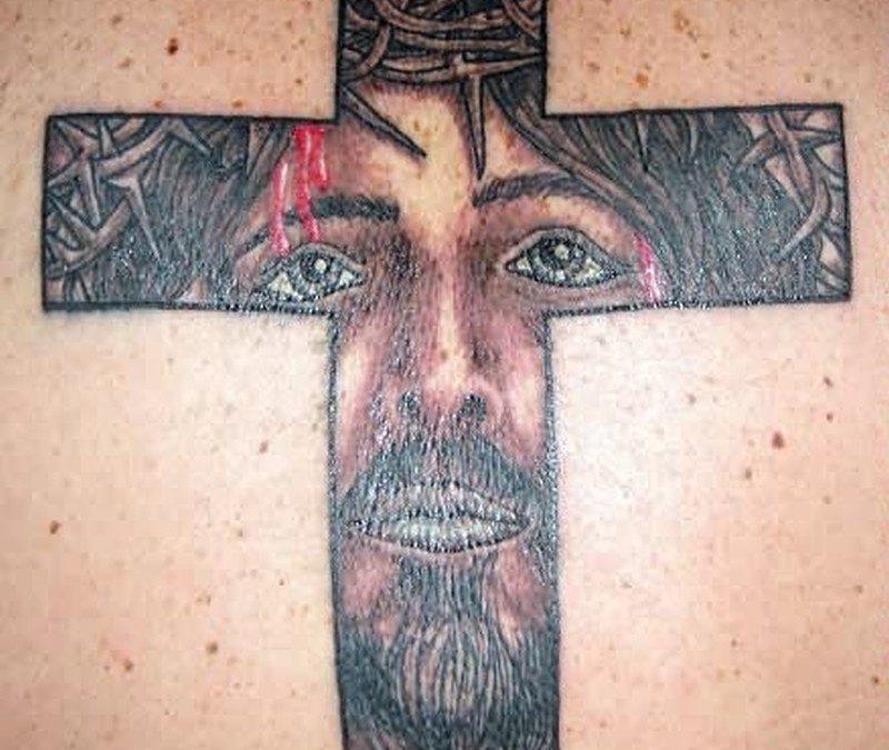 Christ jesus cross tattoo design