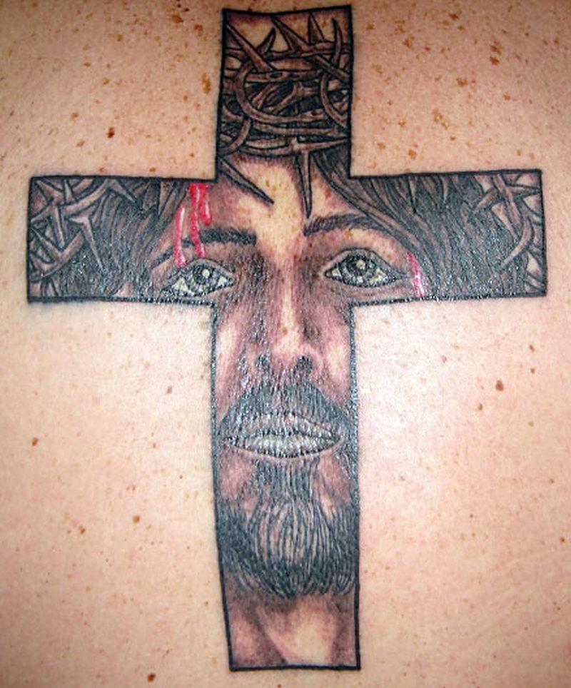 Christian jesus cross tattoo
