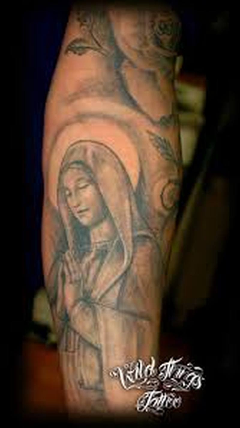 Christian sleeve tattoo design