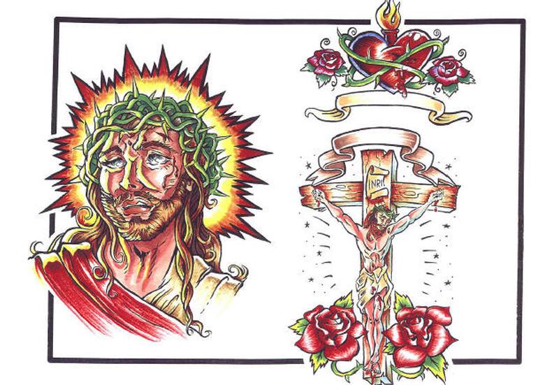 Christian tattoo designs of jesus