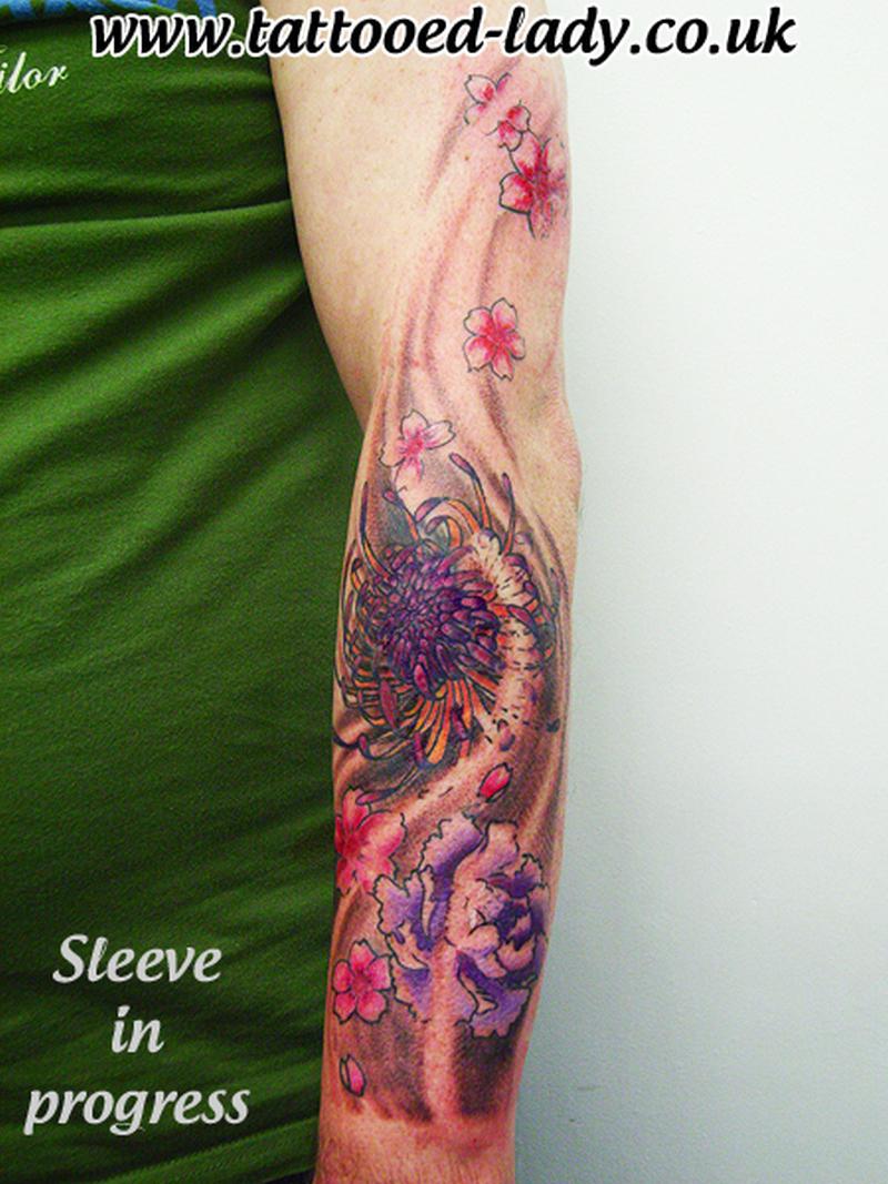 440062675 Chrysanthemum flowers tattoo design on arm - Tattoos Book - 65.000 ...