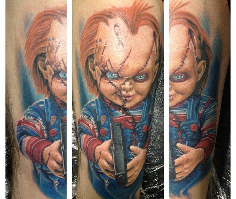 Chuckie horror tattoo design 2