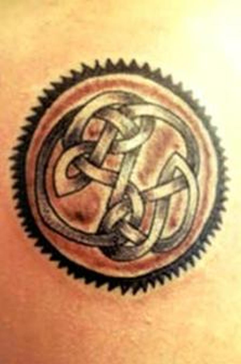Circle celtic tattoo