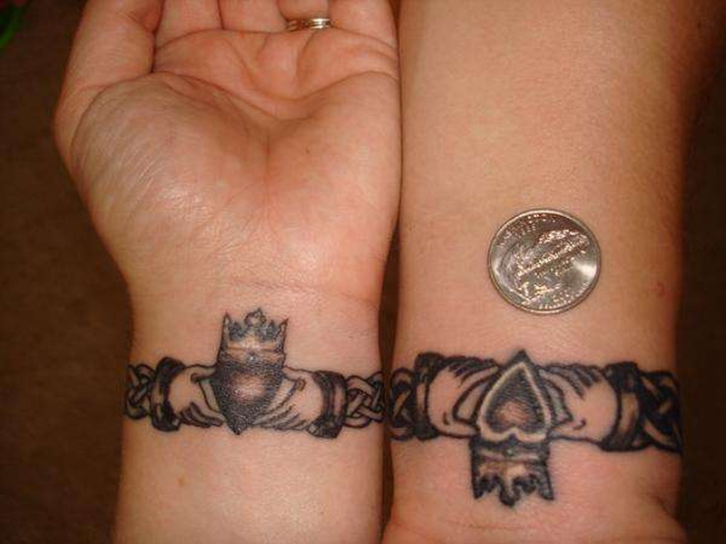 Claddagh tattoo design for wrists