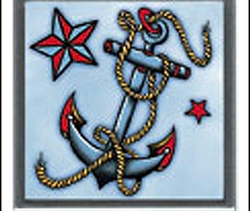 Clasiic anchor tattoo design