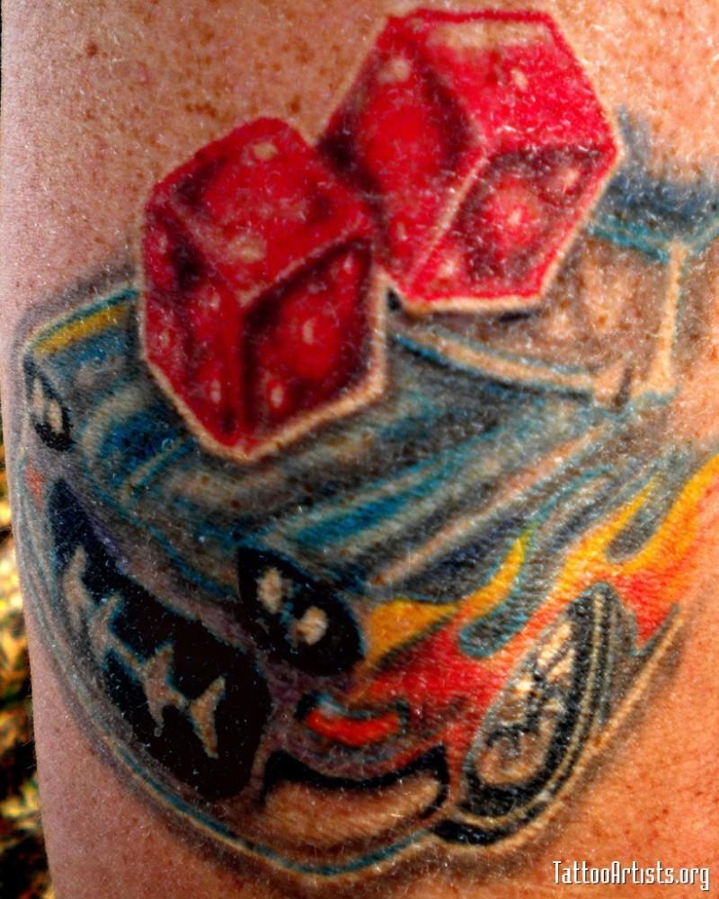 Classic car tattoo design