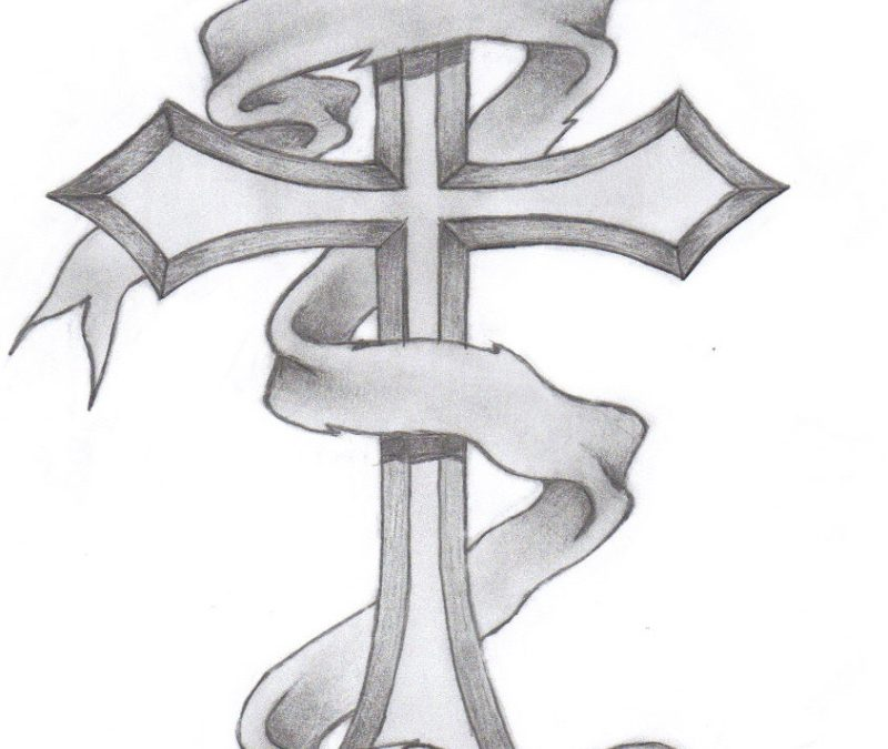 Classic cross tattoo design