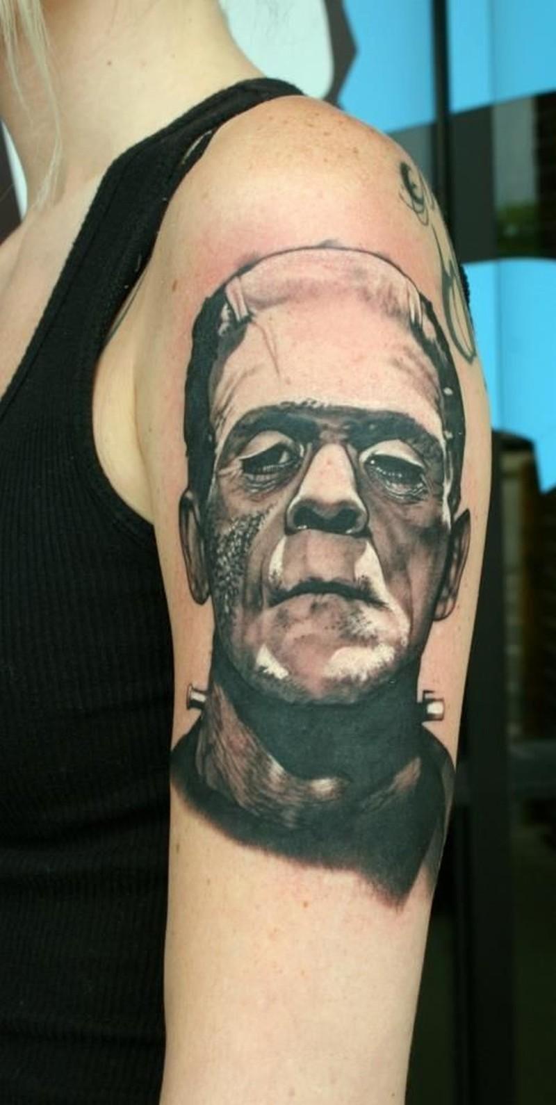 Classic frankenstein horror by teresa sharpe tattoo