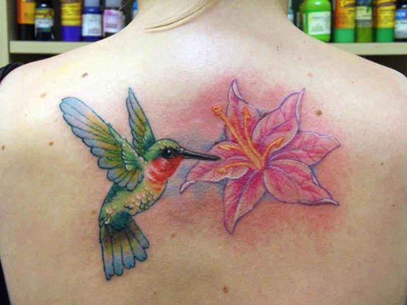 Classic hummingbird tattoo