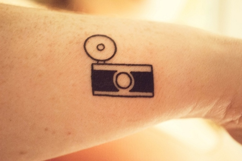 Classic vintage camera tattoo 2