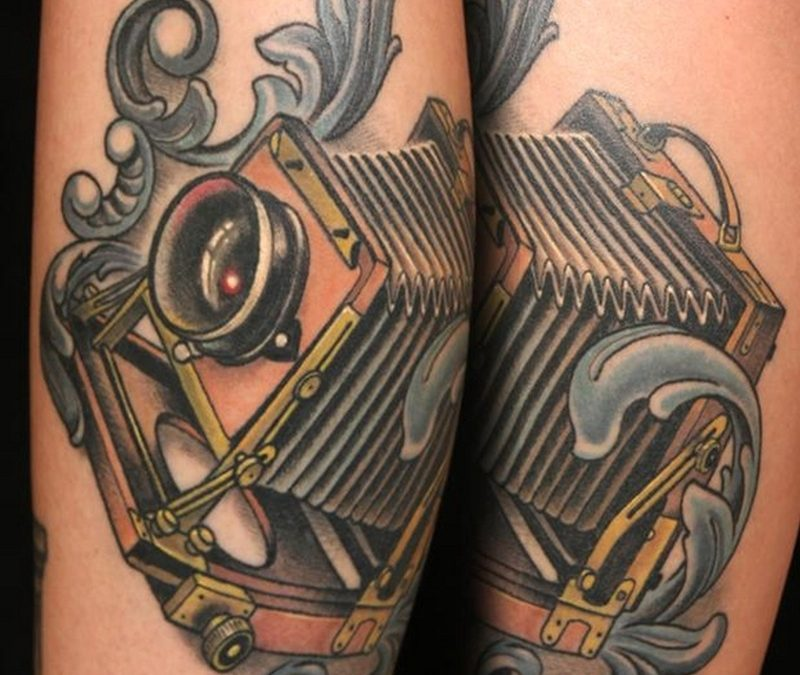 Classic vintage camera tattoo