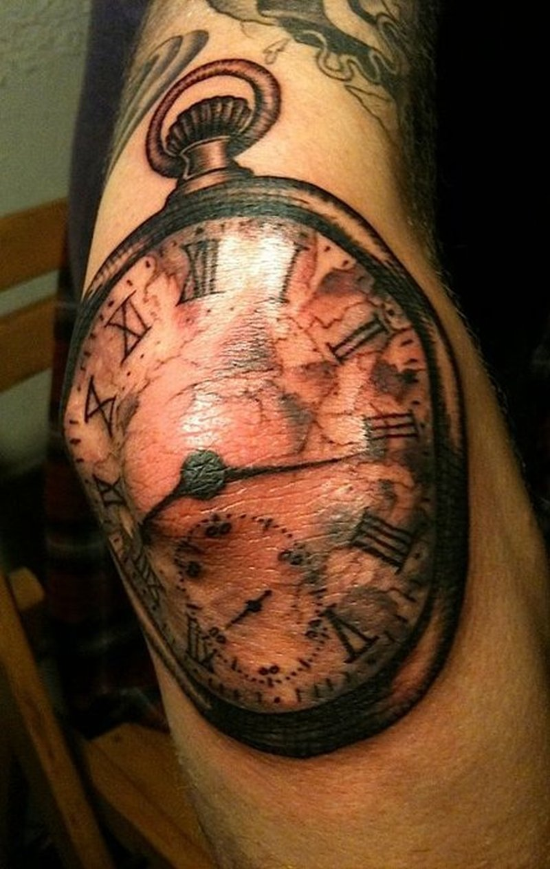 clock tattoo on elbow tattoos book tattoos designs. Black Bedroom Furniture Sets. Home Design Ideas
