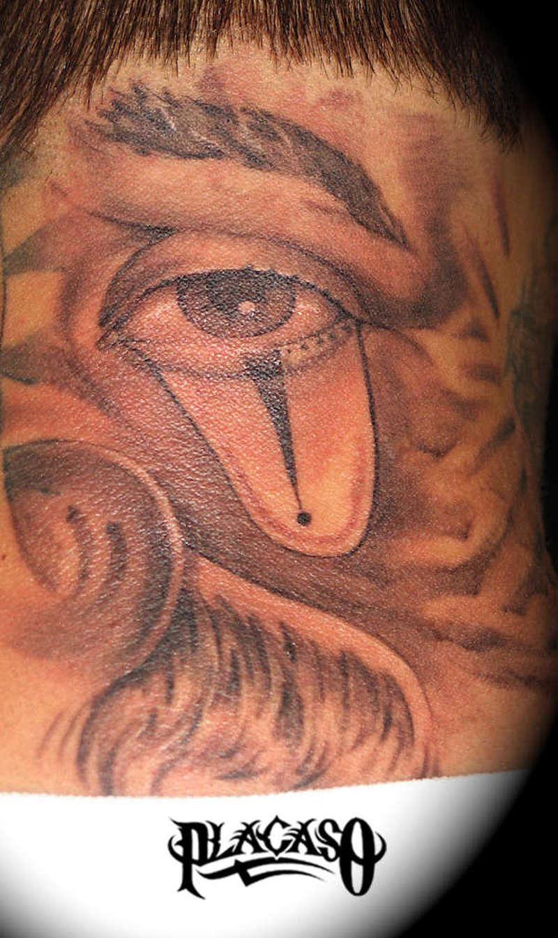 Clown eye tattoo
