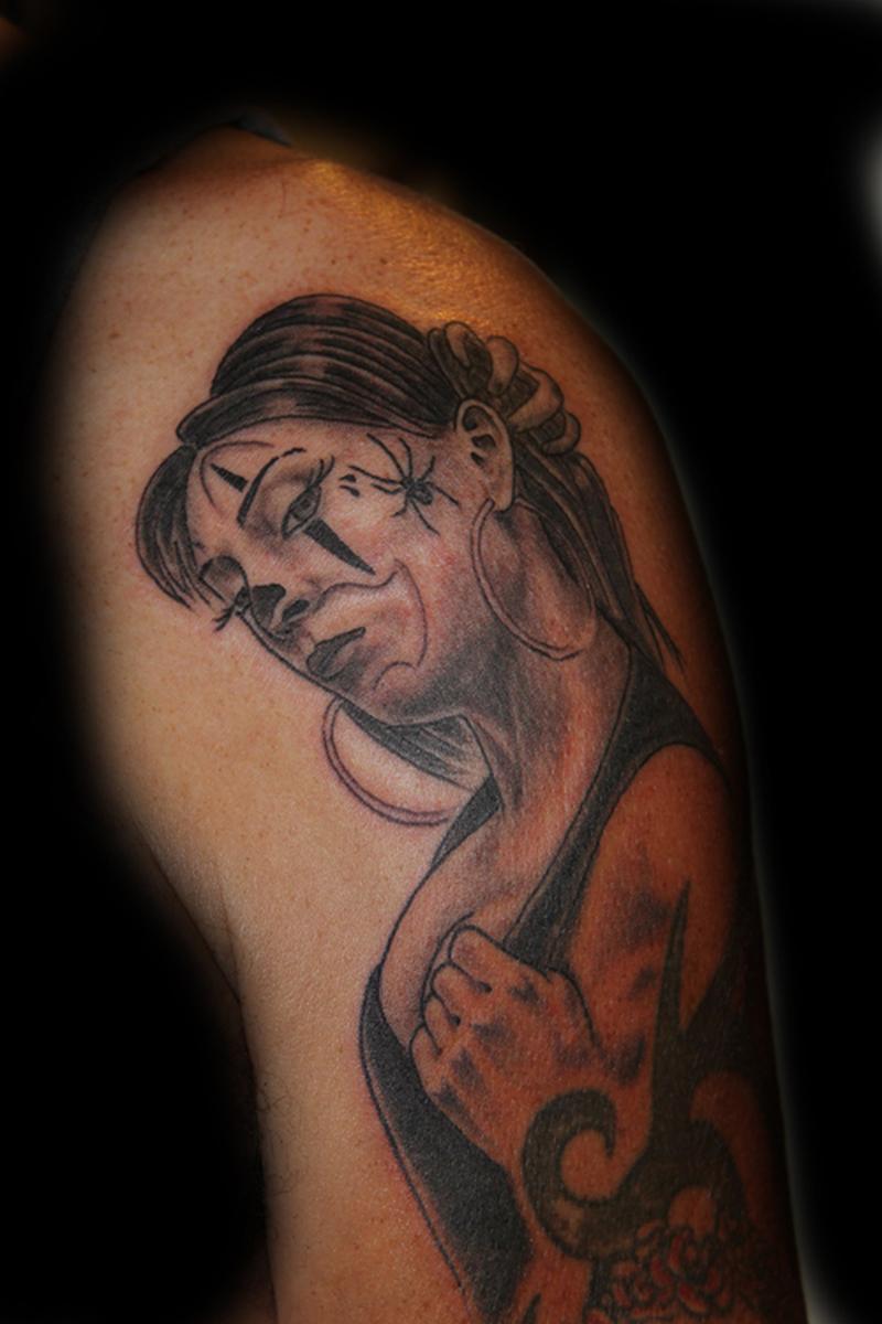 Clown girl tattoo design 2
