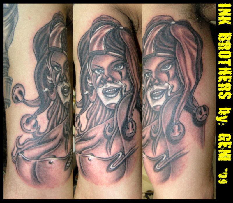 Clown girl tattoo image 2
