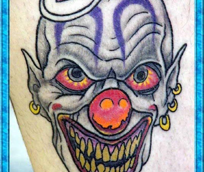 Clown image tattoo