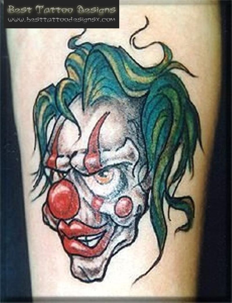 Clown printable tattoo pattern