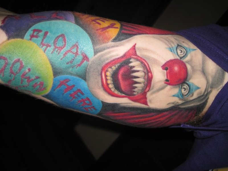 Clown tattoo on sleeve 2