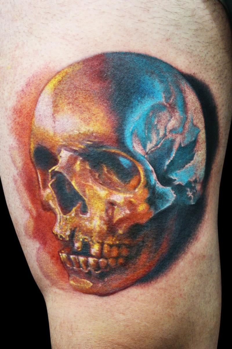 color skull tattoo1