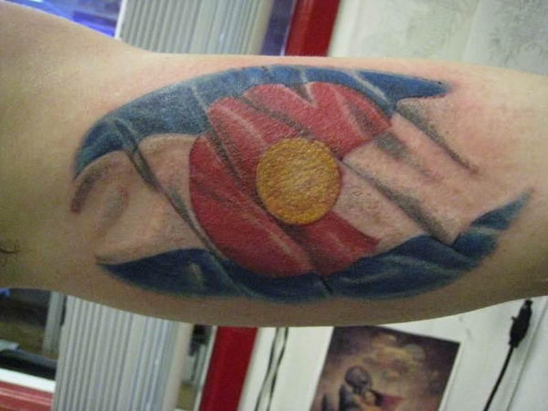 Colorado flag tattoo design