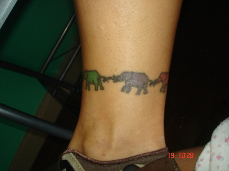 Colorful elephant armband tattoo tattoos book colorful elephant armband tattoo urmus