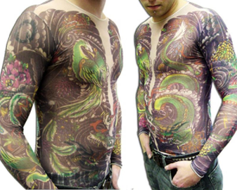 Colorful full body tattoo design for men