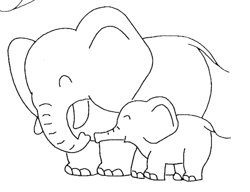 Coloriage elephant tattoo sample