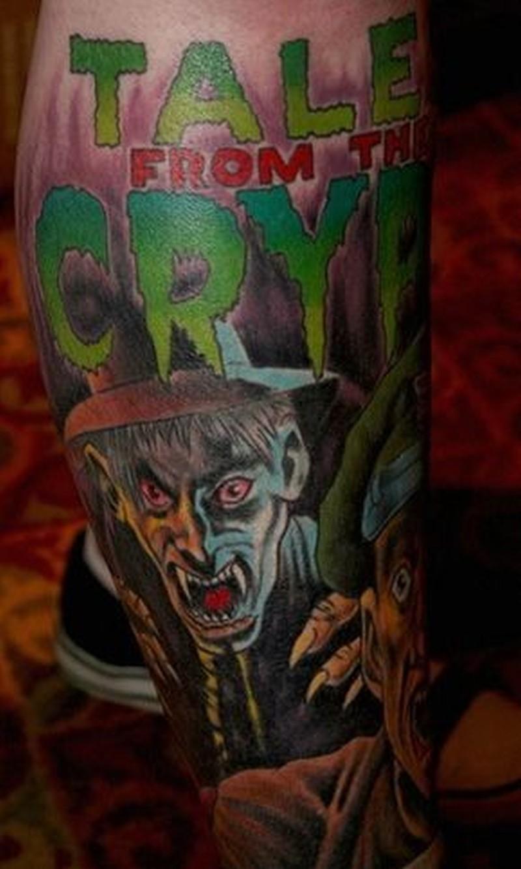 Coloured movie horror tattoo