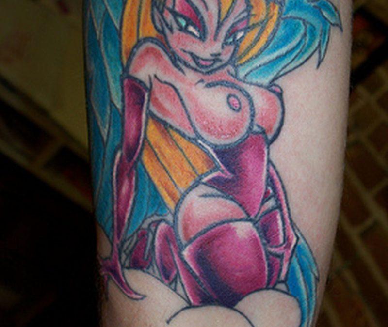 Colourful amazing tattoo