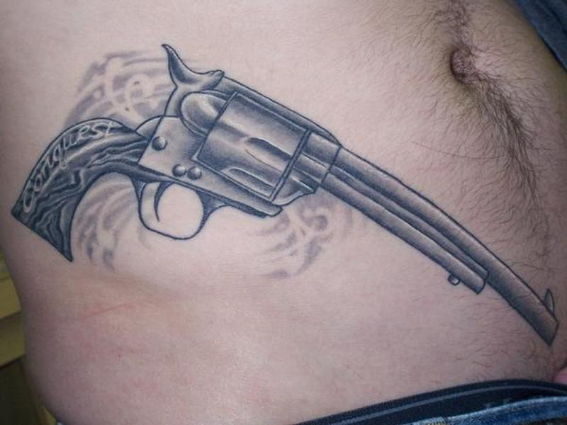 colt gun tattoo design for men tattoos book tattoos designs. Black Bedroom Furniture Sets. Home Design Ideas