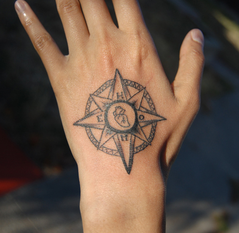 69bf87def Compass tattoo for your hand - Tattoos Book - 65.000 Tattoos Designs