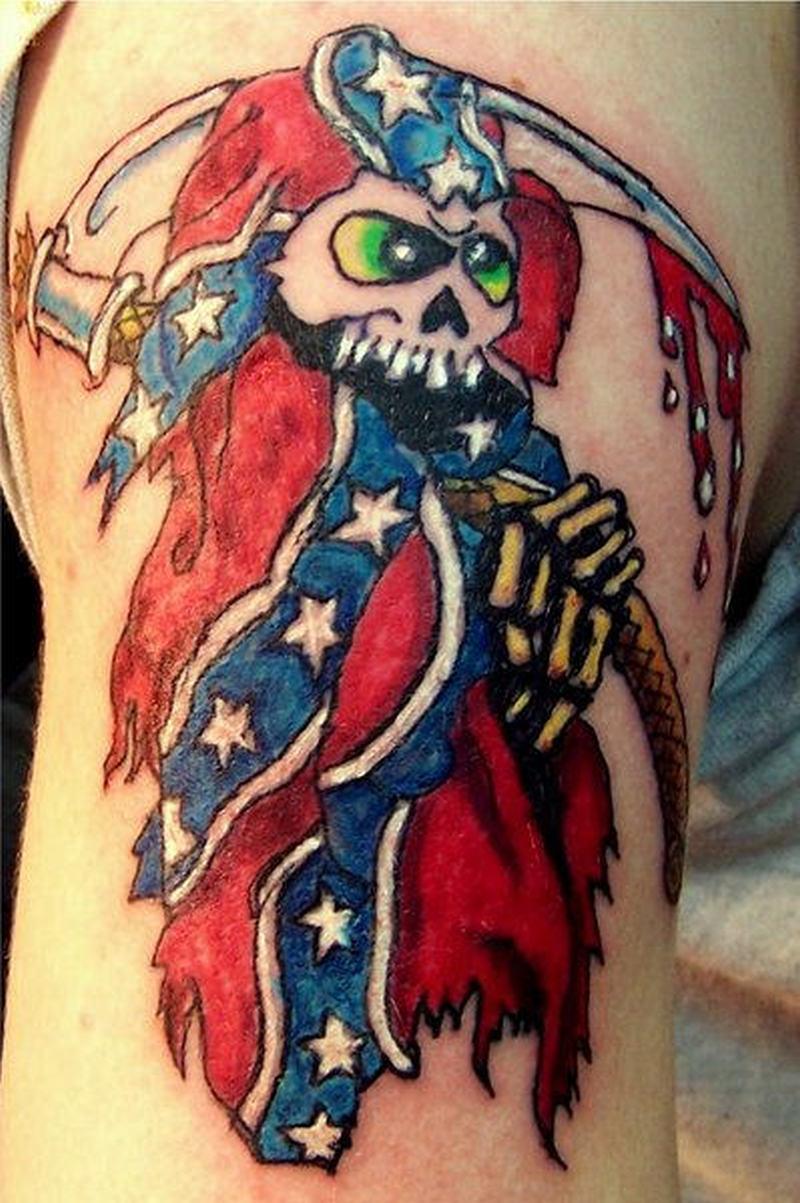 Confederate flag tattoo design