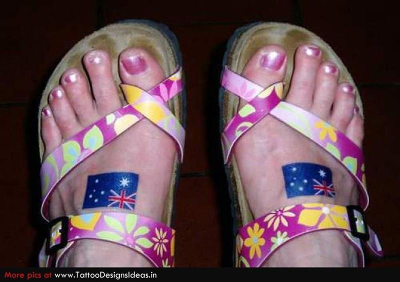 Confederate flag tattoo designs on feet