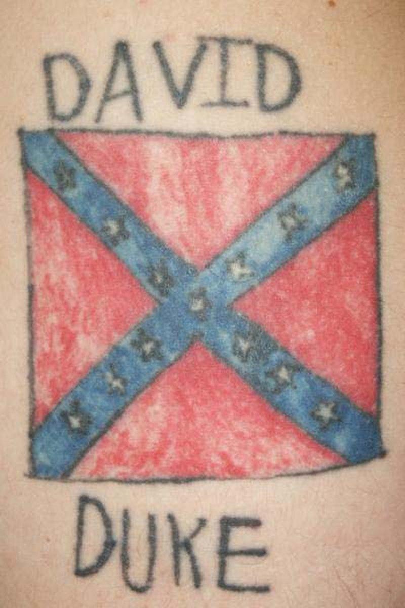 Confederate rebel flag tattoo design