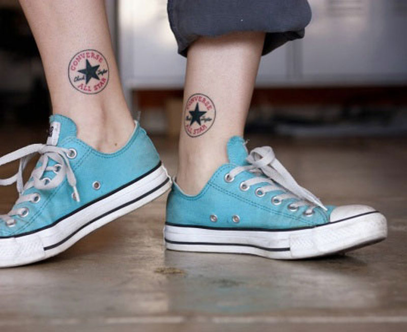 Converse all star ankle tattoo