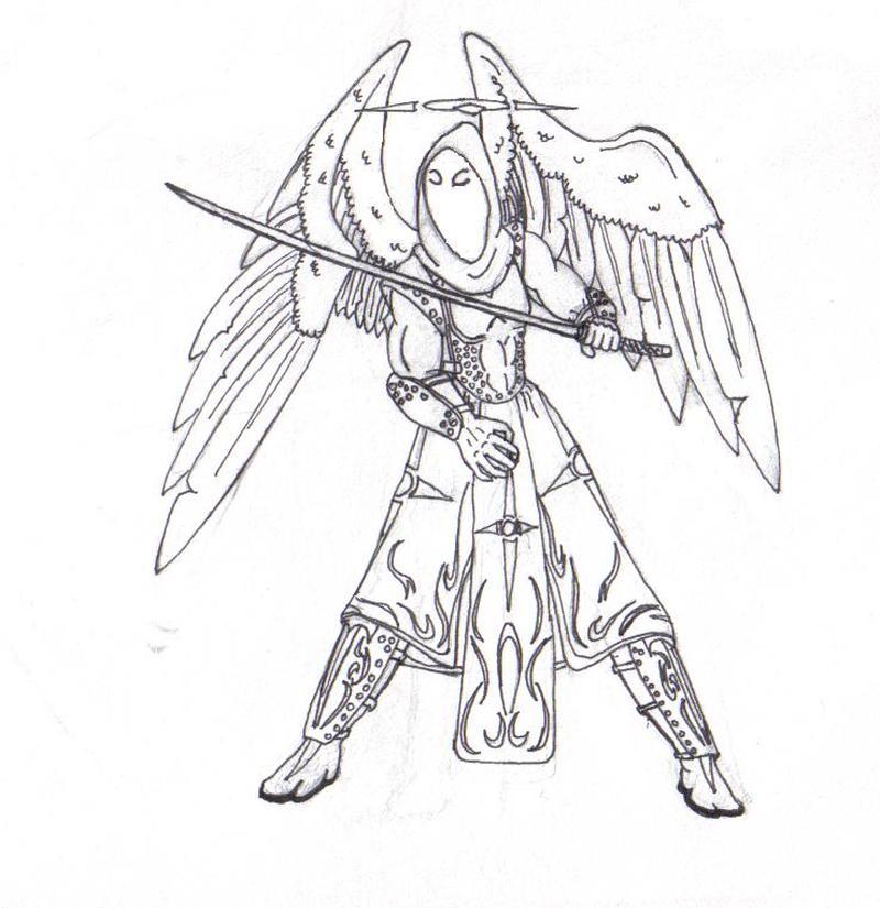 Cool angel tattoo design
