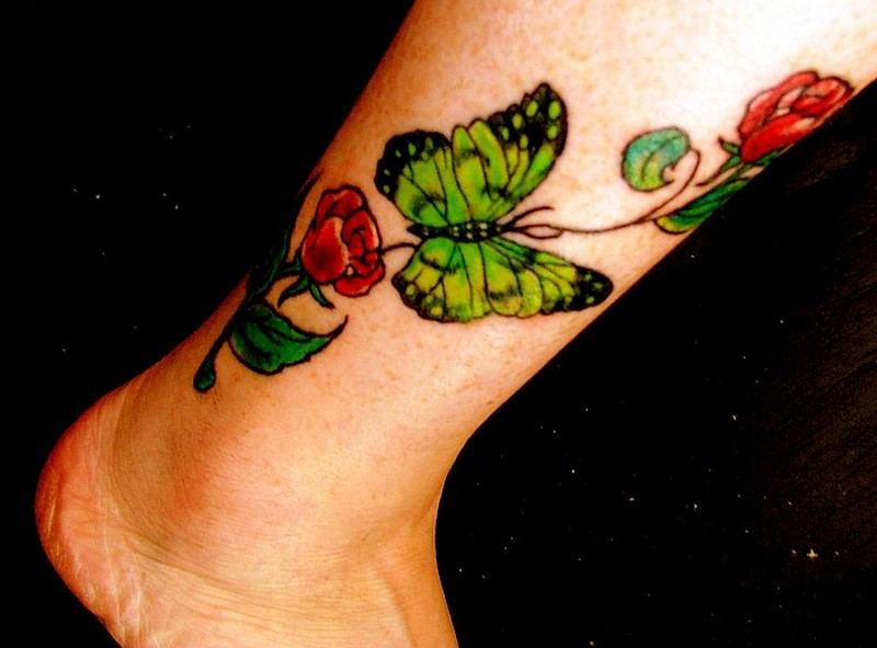 Cool ankle tattoo design